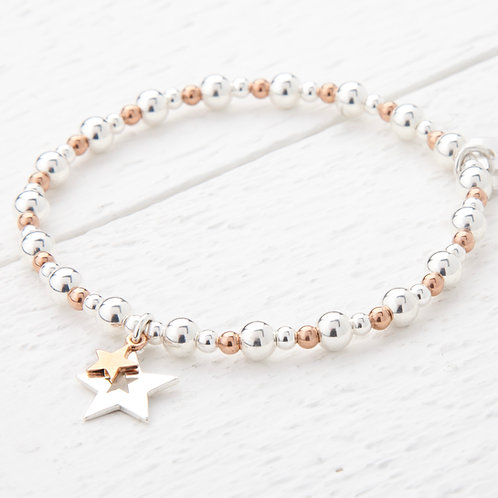 Phoebe Rose Gold Star Bracelet