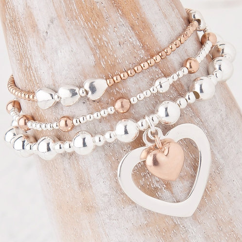 Sophia Rose Gold Bracelet Set