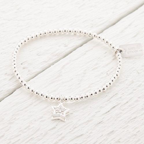 Sirius Silver Star Bracelet