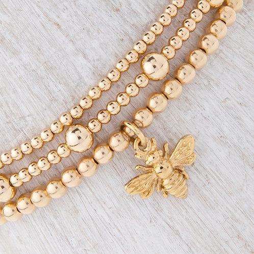 Belinda Gold Bee Bracelet Set