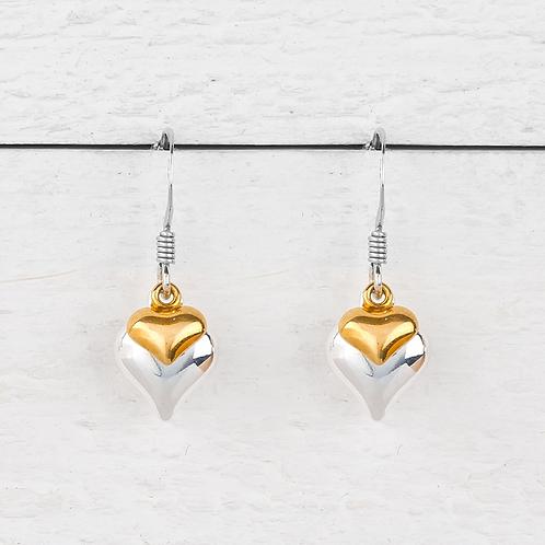 Davina Gold Heart Earrings