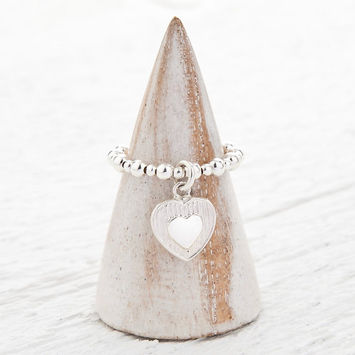 Harriet Heart Charm Ring