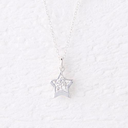 Sirius Silver Star Necklace