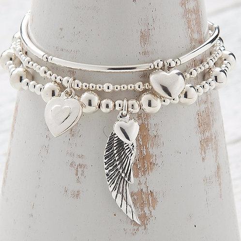 Angelina Angel Wing Bracelet Set
