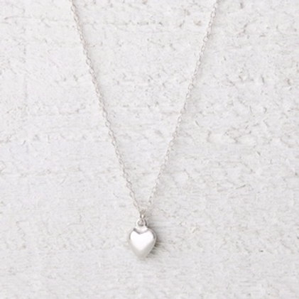 Jessica Silver Heart Necklace
