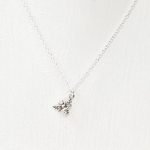 Millie Tiny Silver Bee Necklace