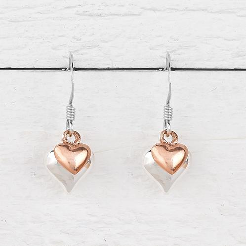 Davina Rose Gold Heart Earrings