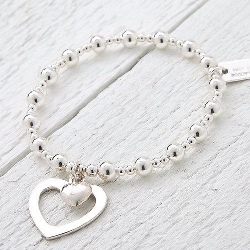 Sophia Silver Heart Bracelet