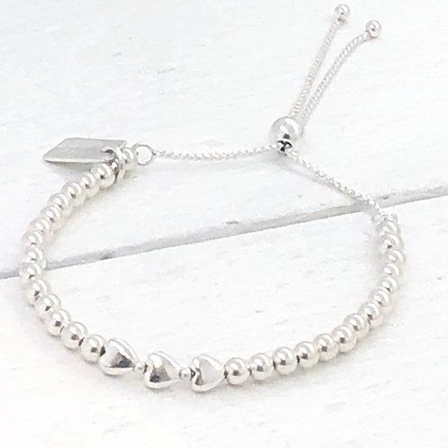 Tabitha Silver Slider Bracelet
