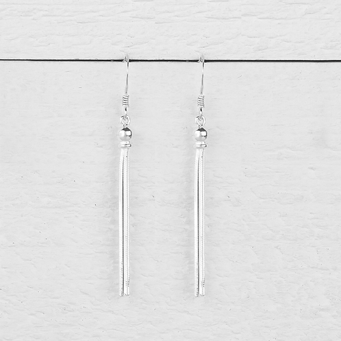 Chloe Silver Tassel Earrings