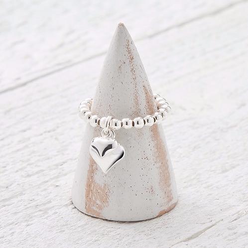 Davina Silver Charm Ring