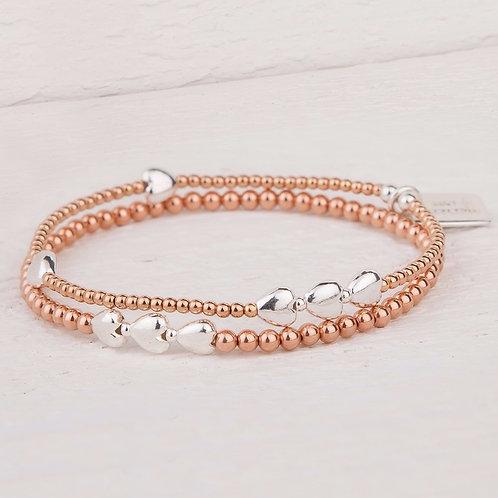 Isabella Rose Gold Bracelet Set