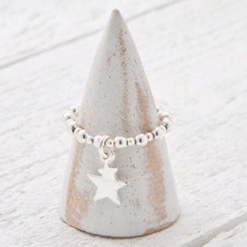 Cassiopeia Silver Star Charm Ring