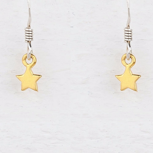 Cassiopeia Mini Gold Star Earrings