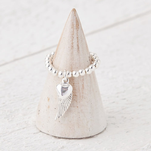 Lailah Silver Angel Wing Charm Ring