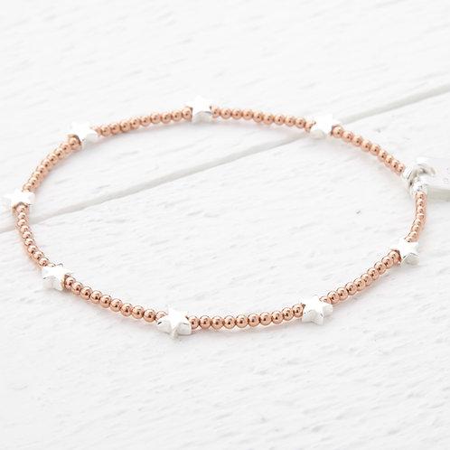 Trixabelle Rose Gold Star Bracelet