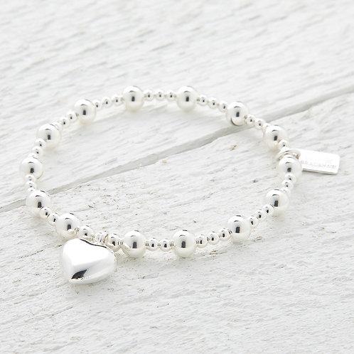 Arabella Beaded Heart Bracelet