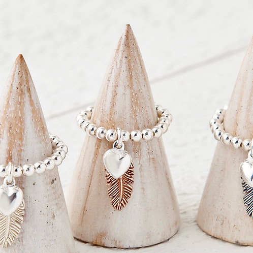 La Plume Rose Gold Feather Ring