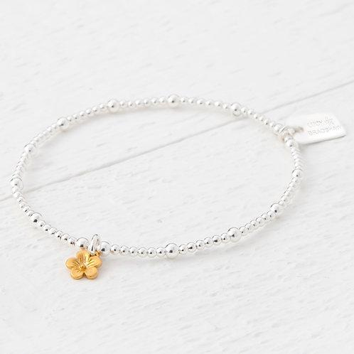 Cerise Small Gold Blossom Flower Bracelet