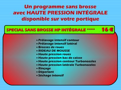 Programme spécial sans brosses HP intégrale