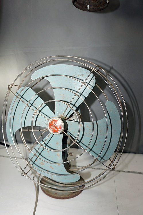 General Electric 14in Oscillating Fan Cat F M 16 V23 - Works