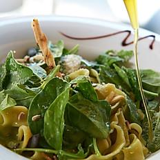 Trofie Verdi aux tomates cerises, mascarpone & épinards frais