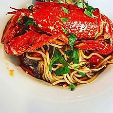 Spaghetti aux Vongole & 1/2 homard frais