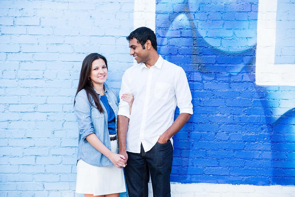 Dallas Deep Ellum Love Engagement Photoshoot Sree & Ann