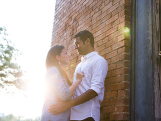 Dallas Engagement Session - Lights, Art, and Urban Feels