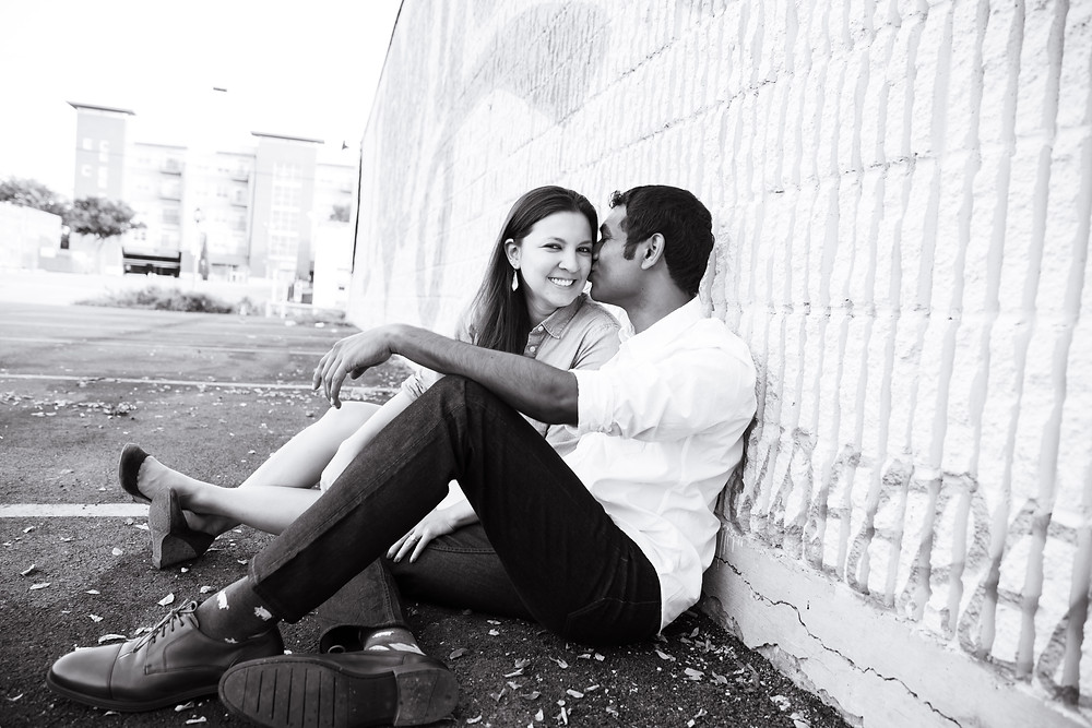 Dallas Deep Ellum Engagement Photoshoot Sree & Ann