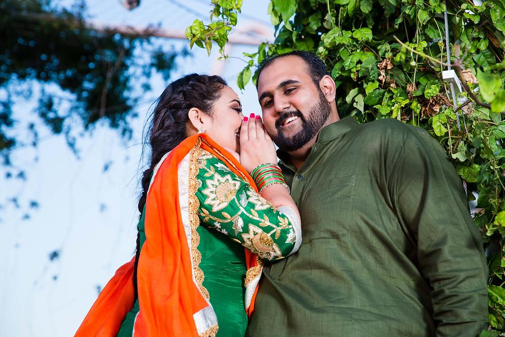 Punjabi Engagement Shoot in Dallas - Margaret Hunt Hill Bridge