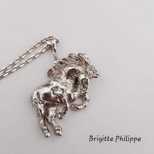 """""""Le Diligencier"""" collection Sauvage   Sautoir pièce unique et originale"""