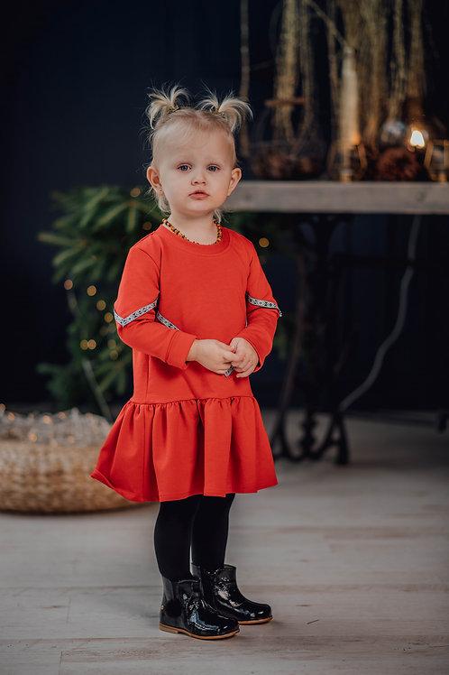 Kalėdinė raudona suknelė