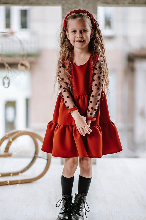 """Suknelė """" Raudona princesė"""""""