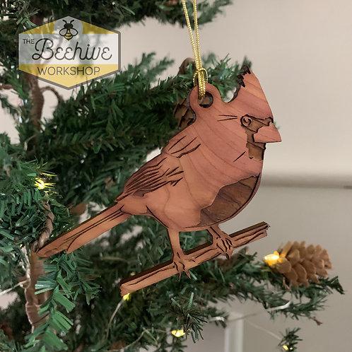 Cedar Cardinal Ornament