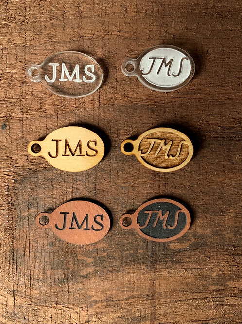25 Small Oval Custom Tags for Knitting, Crochet, Fabric Arts, and Crafts