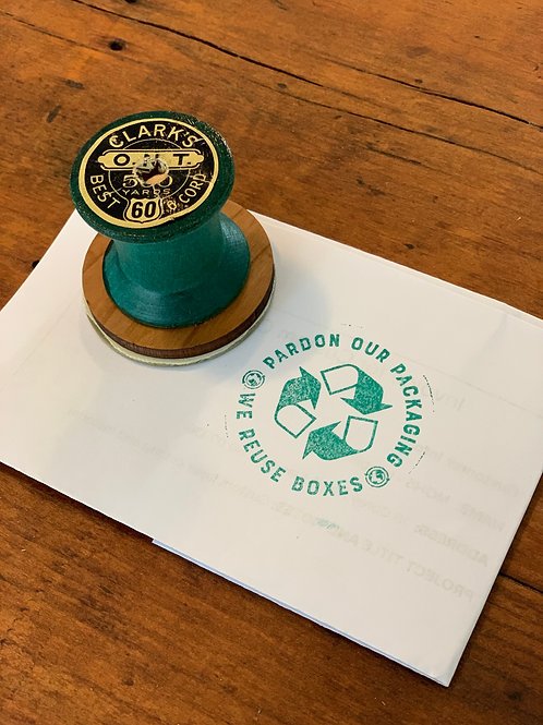 Recycled Boxes Stamp for Small Businesses