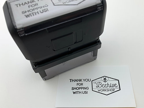 Custom Self inking Stamp in 4 Designs for Return Address, Logo, etc.