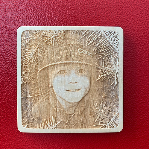 "Engraved Photo Magnet 3""x3"""