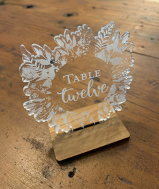 Clear acrylic etched to white