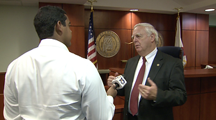 Snapshot of an interview with Baldwin County Probate Judge Tim Russell.