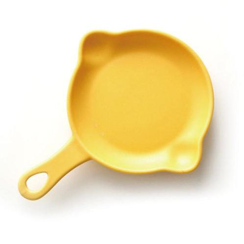 瑞典【GREEGREEN】雙嘴單柄圓形陶瓷烤盤 5吋(明黃) 盤子 點心盤 餐盤