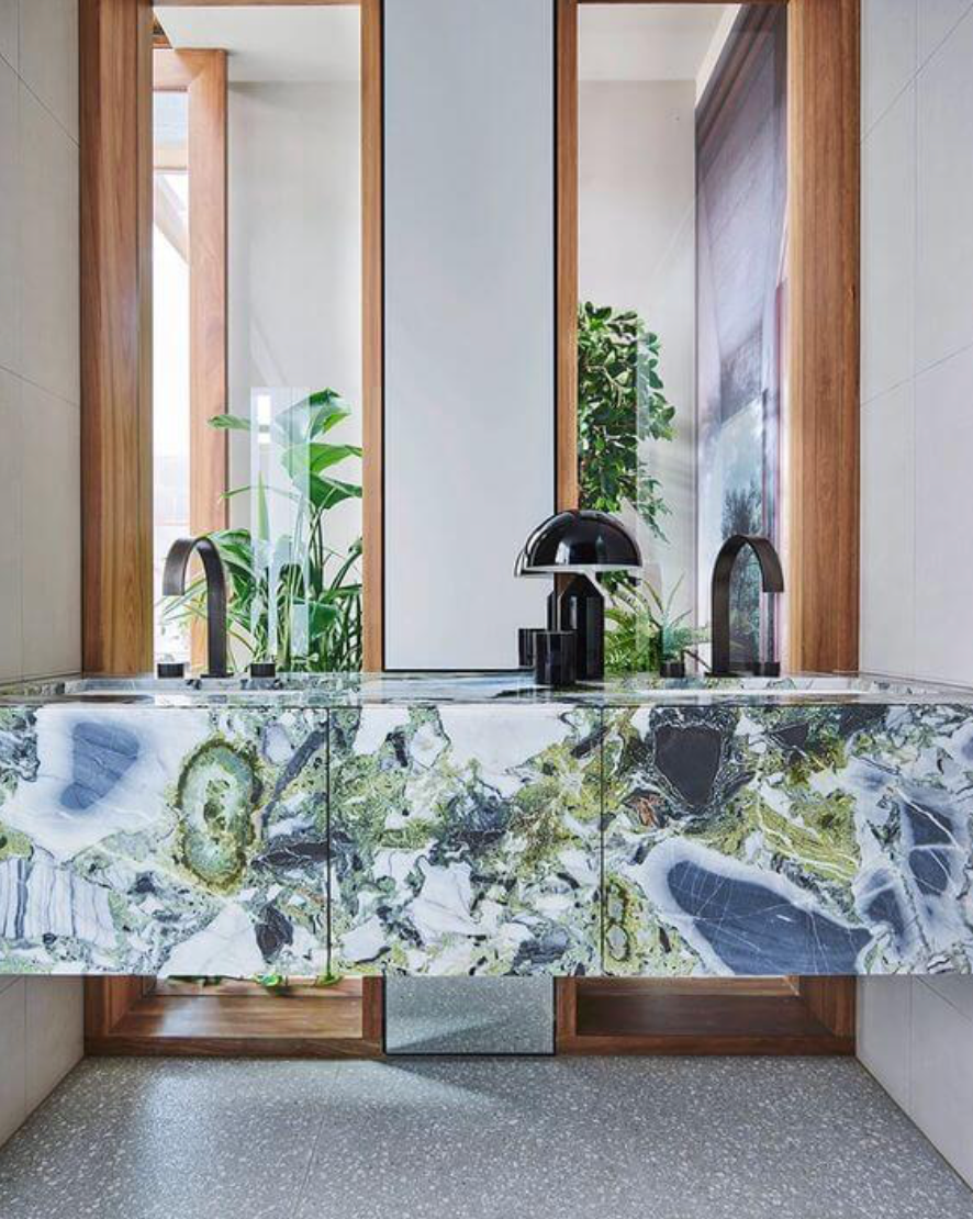 Rich coloured marble
