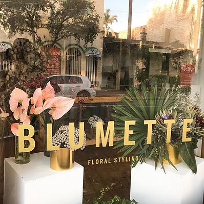 Blumette window signage