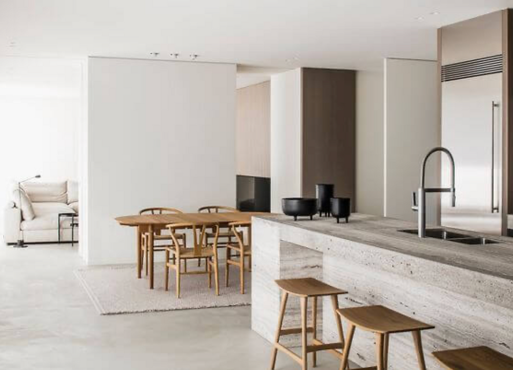 Natural materials kitchen design