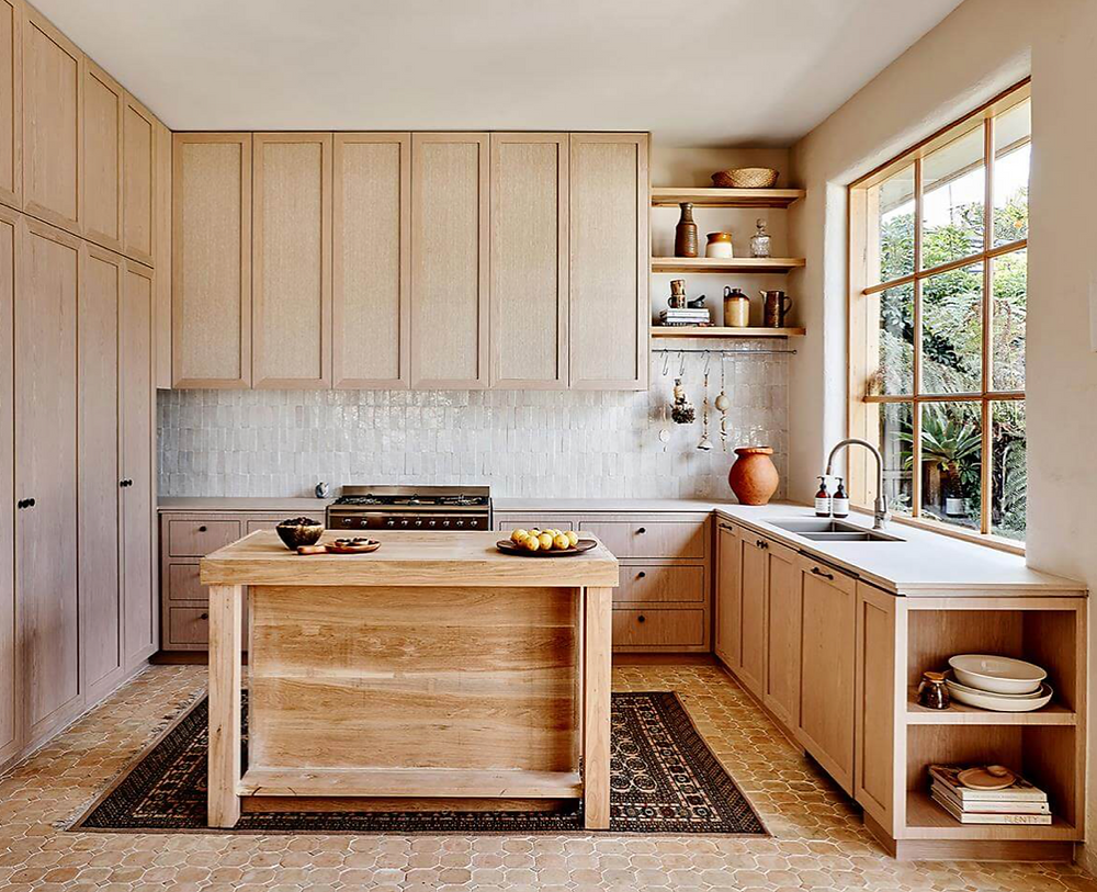 Natural timber kitchen design