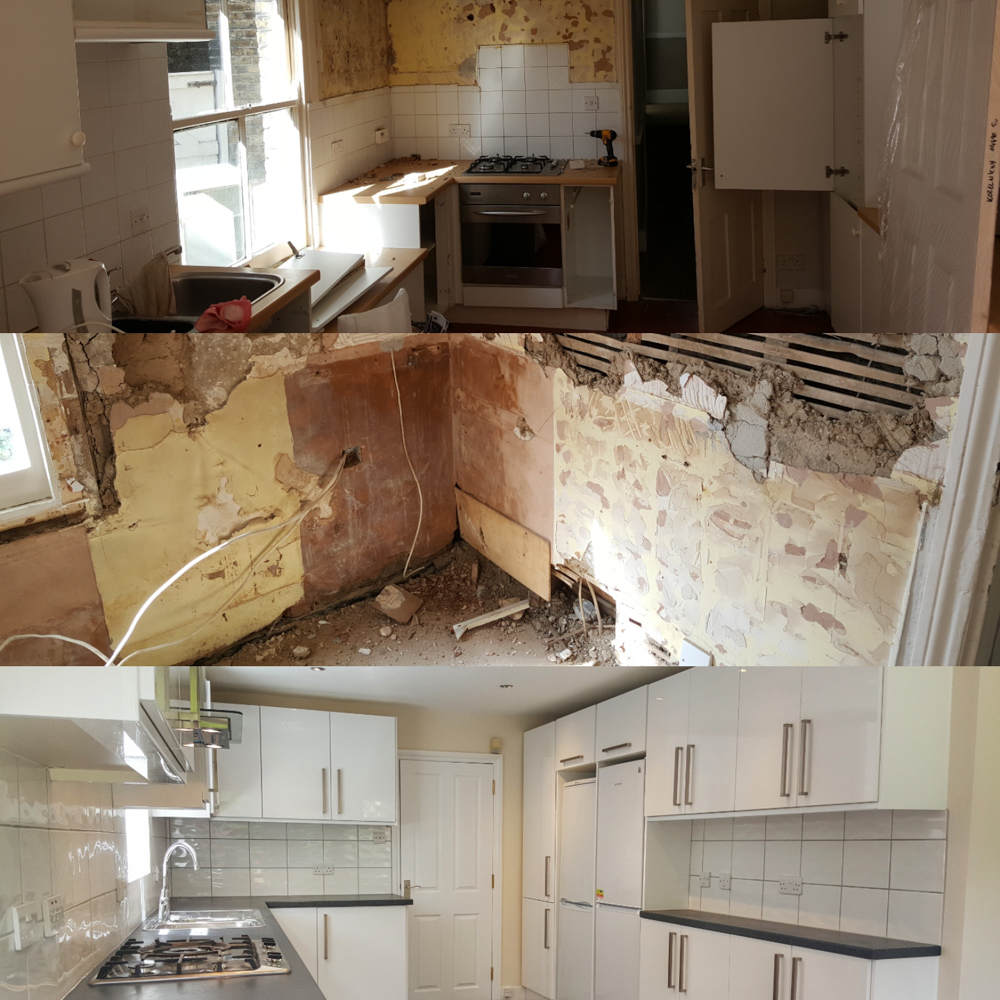 Kitchen renovation in East Putney.