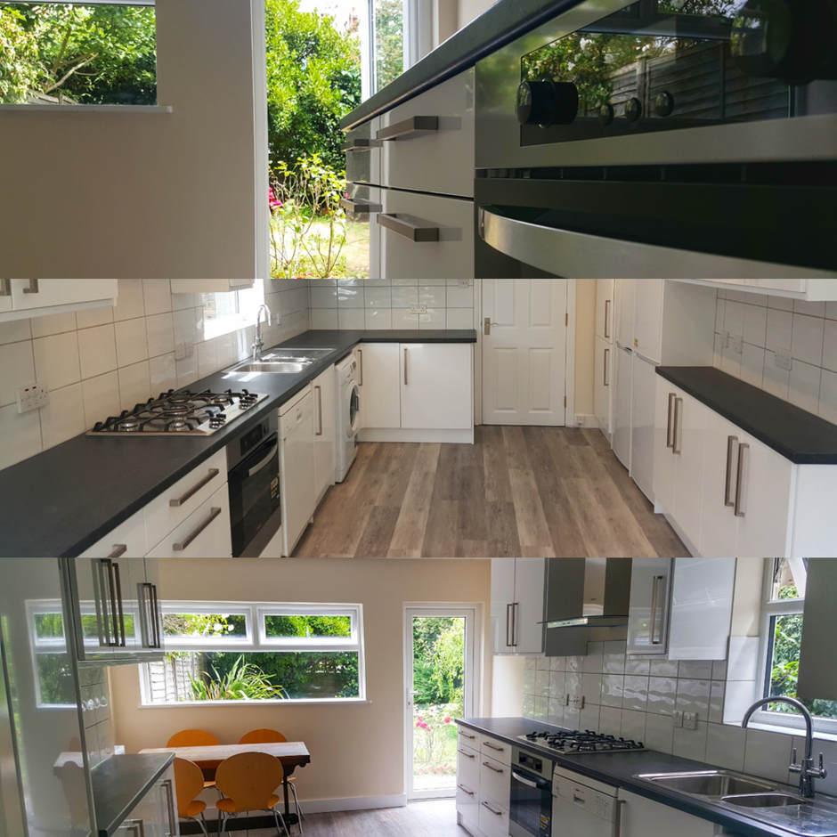 Kitchen renovation in East Putney.