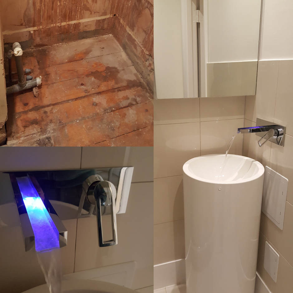Bathroom renovation in Chelsea.