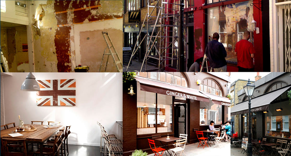 Shop Fitting for Ginger & White in Hampstead.